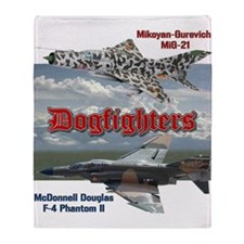 Dogfighters: F4 vs MiG-21 Throw Blanket