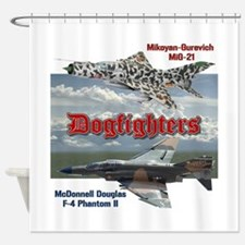 Dogfighters: F4 vs MiG-21 Shower Curtain