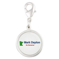 Dayton for Governor Silver Round Charm