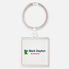Dayton for Governor Square Keychain