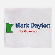 Dayton for Governor Throw Blanket