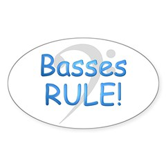Basses Rule Oval Decal