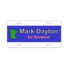 Dayton for Governor Aluminum License Plate
