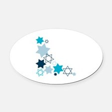 Star Of David Oval Car Magnet