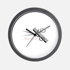 Shear Genius Wall Clock