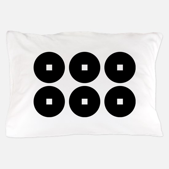 Six coins for the Sanada family Pillow Case
