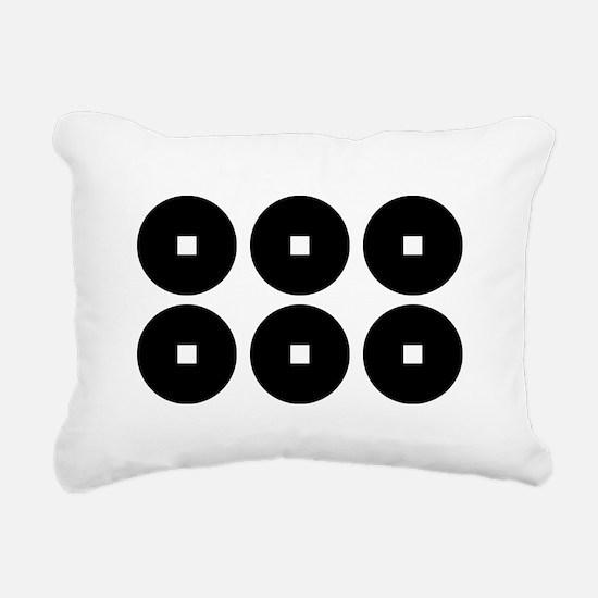 Six coins for the Sanada Rectangular Canvas Pillow