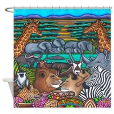 Shower Curtain With Safari Motif