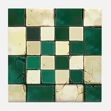 Cracked Tiles - Green Tile Coaster