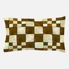 Cracked Tiles - Brown Pillow Case