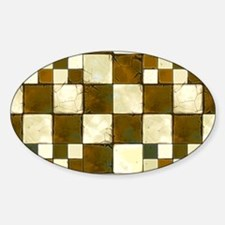 Cracked Tiles - Brown Decal