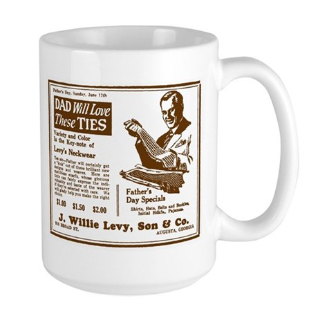 Father's Day Tie Advertisement Large Mug