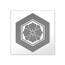 "Square flower with Swords i Square Sticker 3"" x 3"""