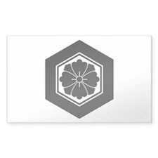 Square flower with Swords in t Decal