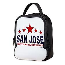 San Jose Capital Of Silicon Val Neoprene Lunch Bag