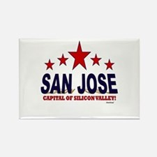 San Jose Capital Of Silicon Valle Rectangle Magnet