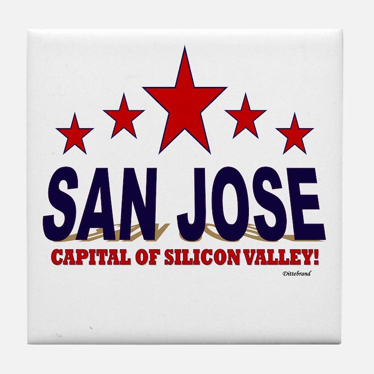 San Jose Capital Of Silicon Valley Tile Coaster