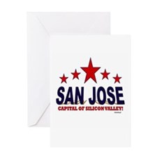 San Jose Capital Of Silicon Valley Greeting Card