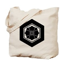 Square flower with Swords in tortoiseshel Tote Bag