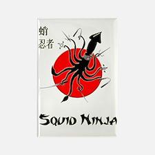 Squid Ninja Rectangle Magnet