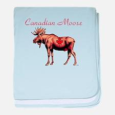 Canadian Moose baby blanket