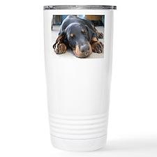 Cute Doberman pinscher Travel Mug
