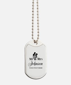 Personalized Mr and Mrs Dog Tags