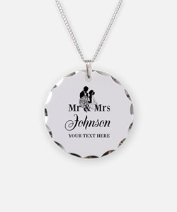 Personalized Mr And Mrs For Necklace