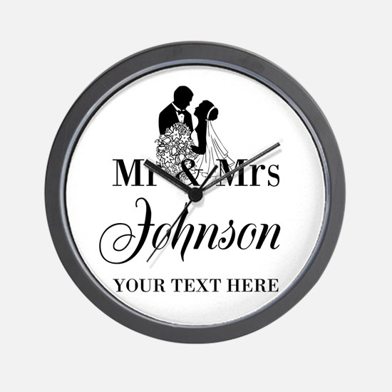 Personalized Mr and Mrs Wall Clock