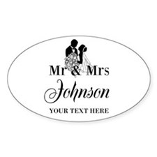 Personalized Mr and Mrs Decal