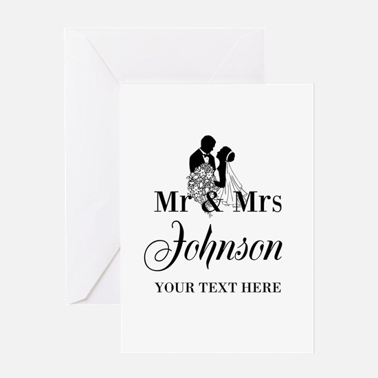 Custom Mr And Mrs Greeting Cards For Newlyweds