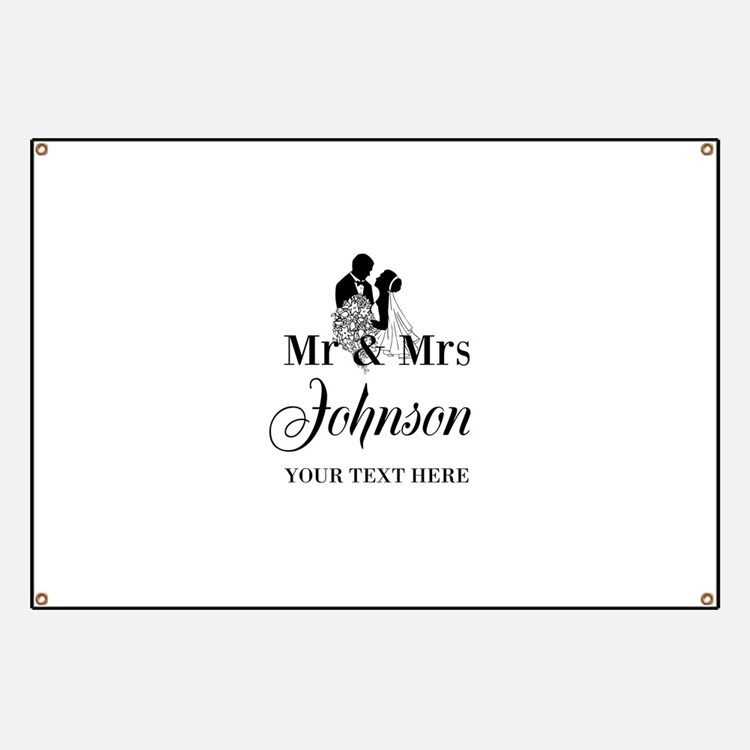 Personalized Mr and Mrs Banner