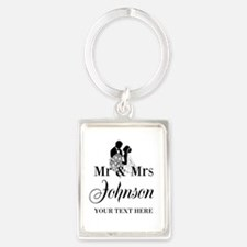Personalized Mr and Mrs Keychains