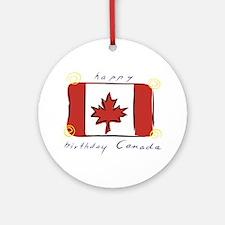 Happy Birthday Canada Ornament (Round)
