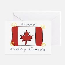 Happy Birthday Canada Greeting Cards (Pk of 10