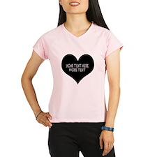 Black heart Performance Dry T-Shirt