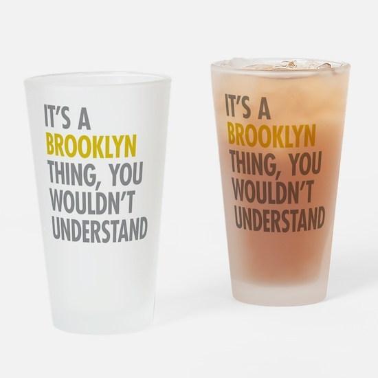 Brooklyn Thing Drinking Glass