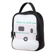 Home Is With You Neoprene Lunch Bag