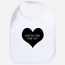 Black heart Bib