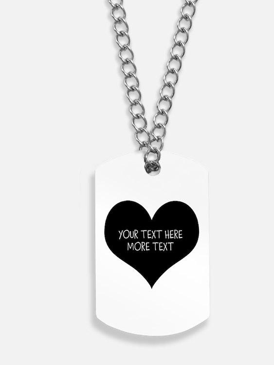 Black heart Dog Tags