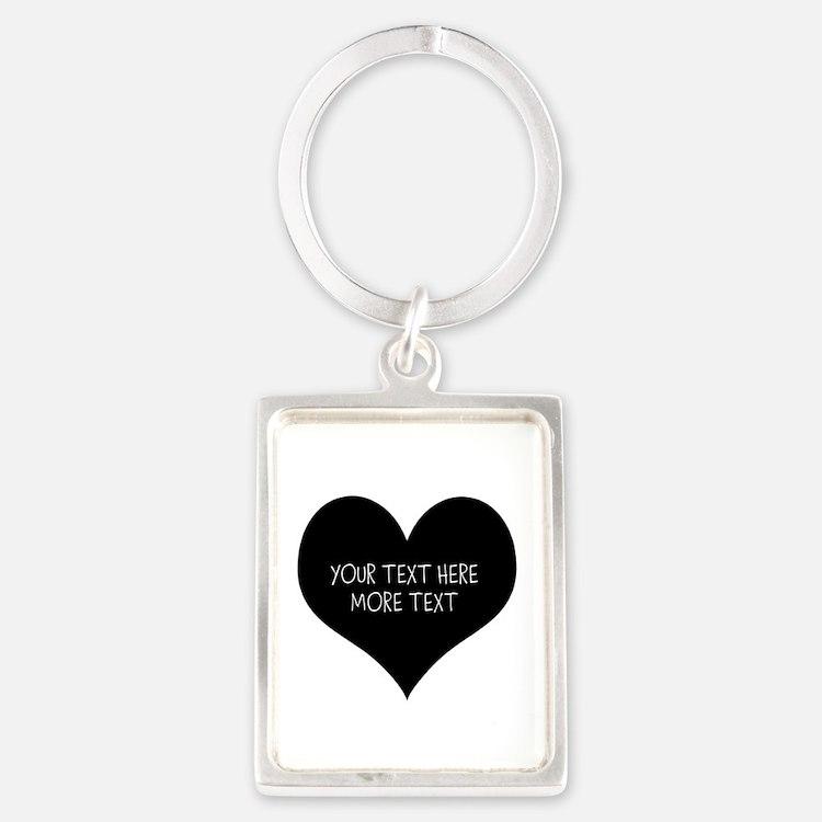 Black heart Keychains