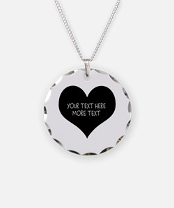 Black Heart For Valentines Necklace