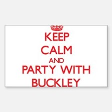 Keep calm and Party with Buckley Decal