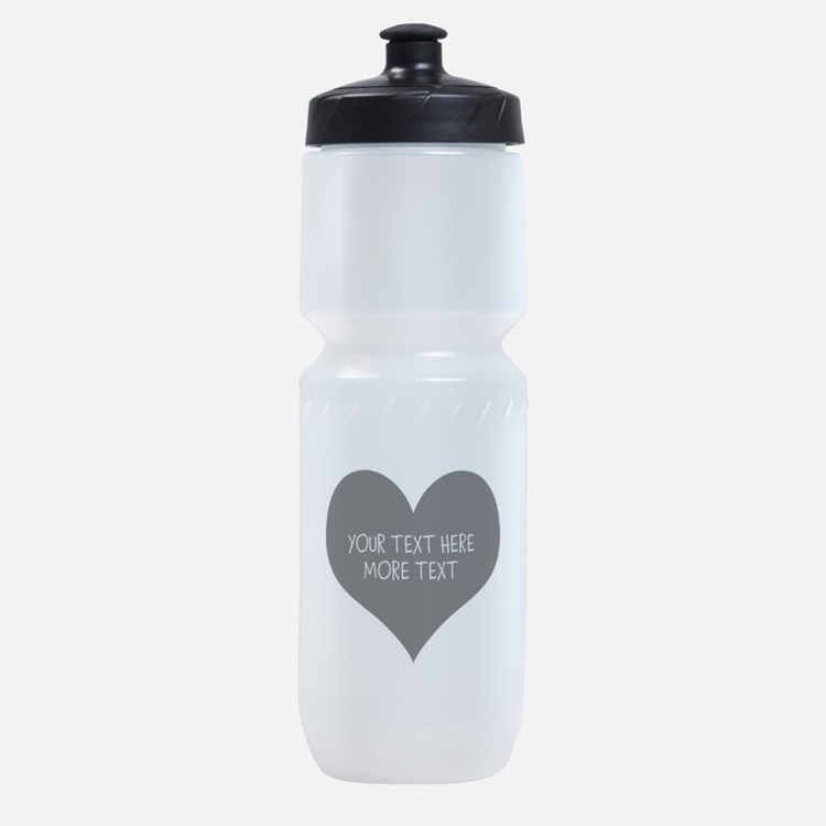 Black heart Sports Bottle