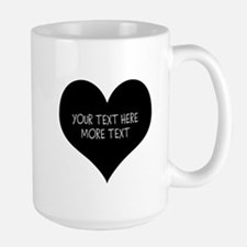 Black Heart Mugs For Newly Weds Couple