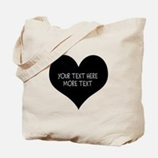 Black Heart Tote Bag For Wedding Party