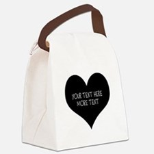 Black heart Canvas Lunch Bag