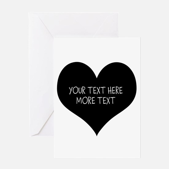 Black Heart Greeting Cards For Newly Weds