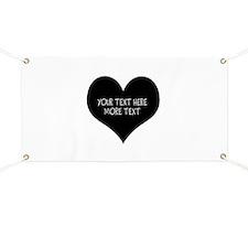 Black heart Banner
