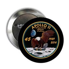 "Apollo 11 45th Anniversary 2.25"" Button"